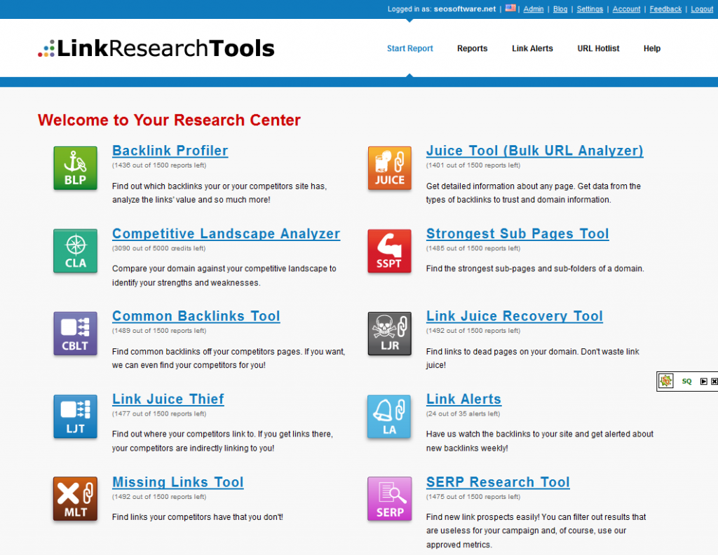 Link Research Tool