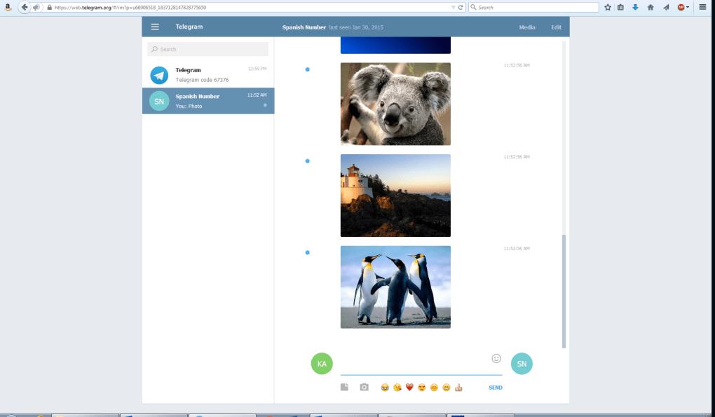 telegram secara online