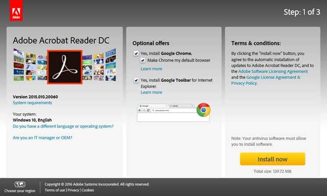 Download Free Adobe Reader for PC Windows (10/7/8), 32bits