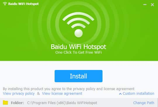 Baidu Wi-Fi Hotspot